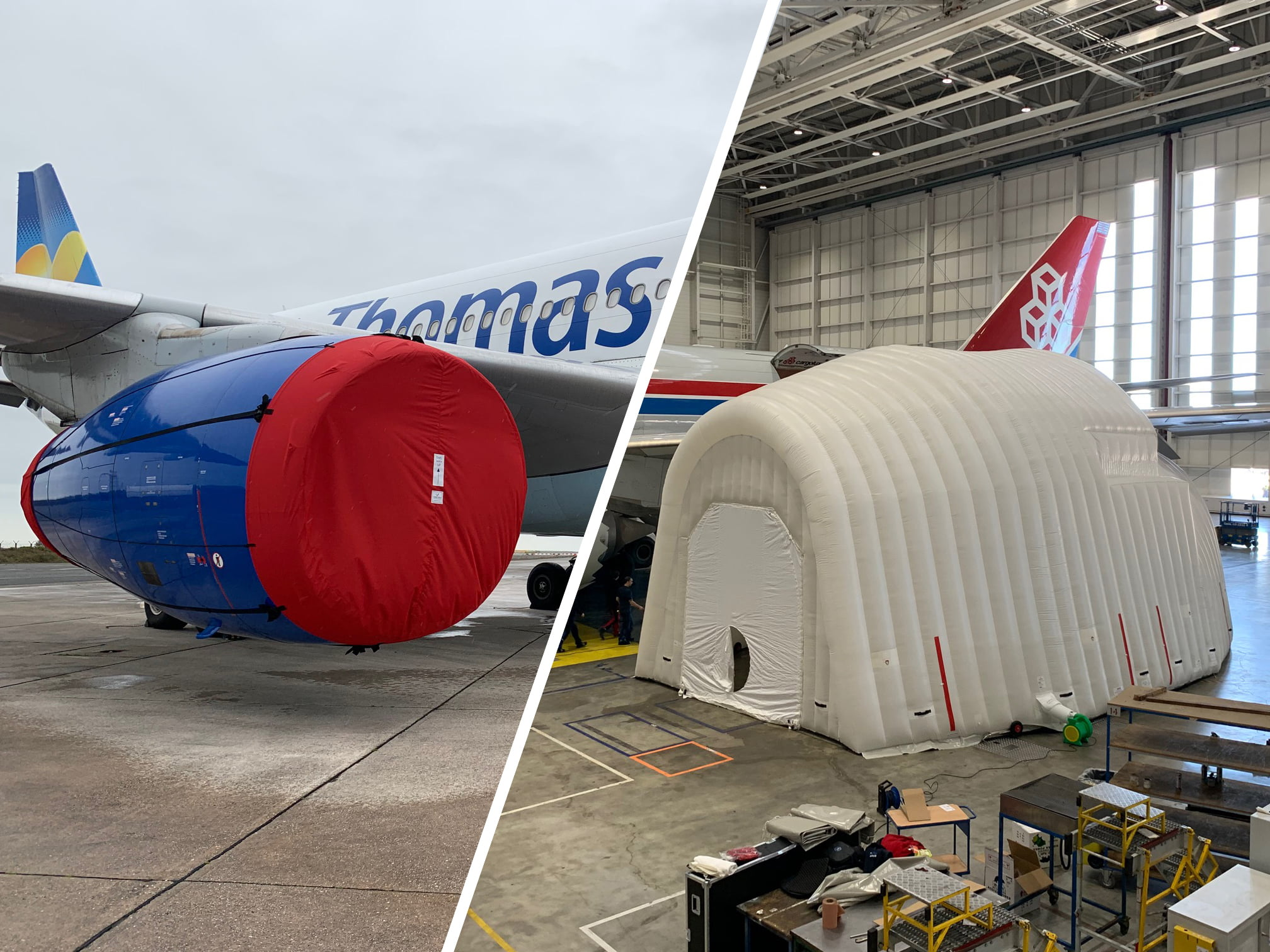 Commercial Aircraft Covers & Inflatables